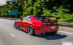 Picture turbo, red, supra, japan, toyota, jdm, tuning, race