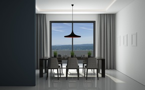 Picture dining room, Interier, minimalist architecture