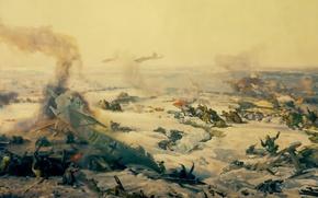"Picture panorama, Museum, fragment, the hero-city of Volgograd, ""Battle of Stalingrad"""