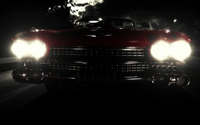 Wallpaper light, night, Eldorado, lights, Cadillac, darkness