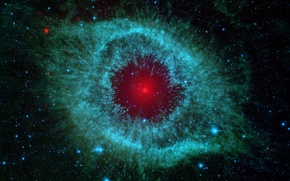 Wallpaper nebula, snail, nebula, spitzer, infrared, helix
