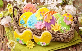 Picture cookies, Easter, holidays, cakes, easter, cookies, baking