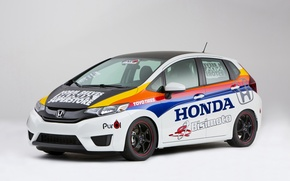 Picture photo, White, Tuning, Honda, Car, 2014, Fit, Spec Car