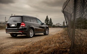 Picture black, Mercedes-Benz, fence, Mercedes, jeep, black, GL550