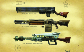 Picture weapons, machine gun, Fallout, rifle, laser