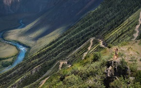 Picture Serpentine, The Altai Mountains, Mobiba, Mountain pass katu-Yaryk, Mobibu, Venturism