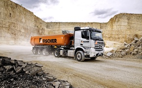 Picture Mercedes-Benz, truck, Mercedes, dump truck, 2015, machinery, Arocs