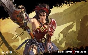 Picture mmorpg, DC comics, Warner Games, Wonder Women, infinite crisis, Atomic Wonder Woman