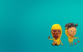 Picture protection, mask, illustration, breaking bad, breaking bad, walt, jesse, yo-yo, khimzaschita, the chickens