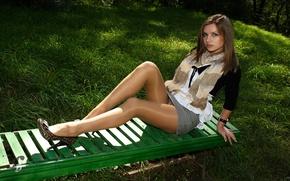 Wallpaper legs, shirt, skirt, Long