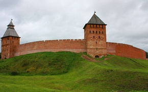 Picture the city, Wallpaper, tower, the Kremlin, Russia, the ancient city, the citadel, Veliky Novgorod