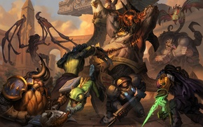 Picture Heroes of the Storm, sarah kerrigan, Jim Raynor, warcraft, diablo, Tyrael, Rehgar, Stitches, starcraft, Murky, ...