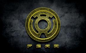Picture comics, fear, Yellow Lantern, Sinestro Corps