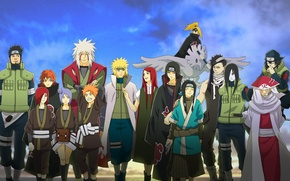 Wallpaper Deidara, Sasori, Naruto, Naruto, anime, Kushina Uzumaki, Gekkou Hayate, Yahiko, Namikaze Minato, Konan, Sarutobi Sends ...