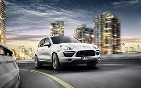 Picture road, speed, Porsche Cayenne