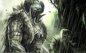 Picture rain, armor, art, orcs, simon robert, freaks