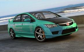 Picture graphics, art, Honda, Civic, Type R, dangeruss, tuner