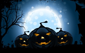 Picture smile, tree, holiday, the moon, Halloween, horror stories, Jolly pumpkin, holiday horror