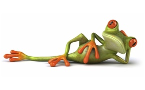 Picture pose, graphics, frog, Free frog 3d