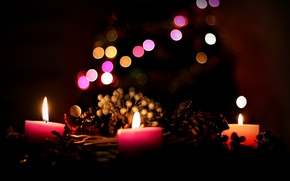 Picture background, holiday, candles