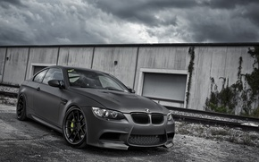 Picture the sky, black, bmw, BMW, coupe, Matt, coupe, e92, Active, car works