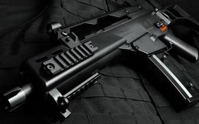 Picture black, machine, view, the vest, HK g36