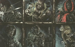 Picture weapons, armor, monsters, Overlord, demons, art So-bin