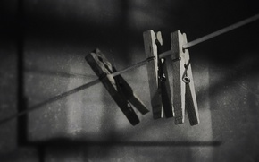 Picture macro, background, clothespins