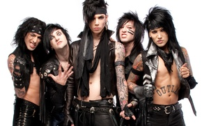 Picture music, group, Ashley, hard rock, heavy metal, glam metal, Black Veil Brides, Jake, BVB, Andy, …
