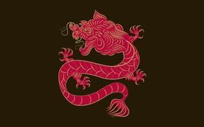 Wallpaper dragon, China, ornament