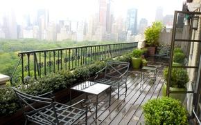 Picture New York, balcony, penthouse, megapolis, NYC, terrace, garden, erb, Jeffrey