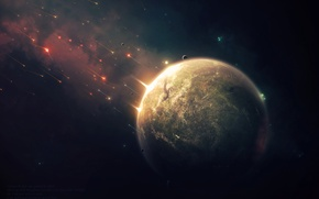 Picture Star, war, planet, Brown, Sci Fi, dry, attack and defense