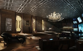 Wallpaper room, cyberpunk, deus ex, apartment, Deus Ex: Mankind Divided, mankind divided
