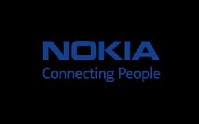 Picture Minimalism, The inscription, Blue, Black, Nokia