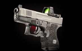 Picture gun, background, Glock, self-loading