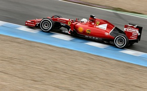 Picture Ferrari, Formula 1, Vettel, Tests, SF15T