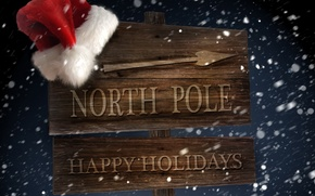 Wallpaper winter, snow, the wind, holiday, hat, new year, arrow, index, North pole, Blizzard, new year, ...