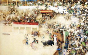 Picture picture, Spain, arena, the audience, Matador, bullfight, bullfighting