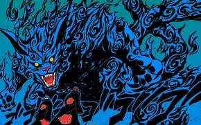 Picture paint, monster, naruto, akatsuki