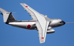 Picture the plane, Kawasaki, military transport, twin-engine, C-1