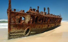 Picture beach, Ship, the skeleton, rust
