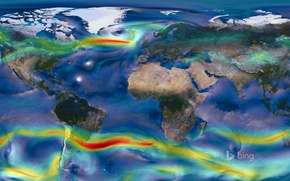 Picture nature, earth, NASA, map, the wind map, winds