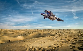 Picture sport, the sky, motorcycle, jump