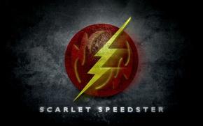 Picture logo, comics, Flash, scarlet speedster