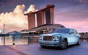 Picture landscape, the city, Rolls-Royce, Singapore, limousine