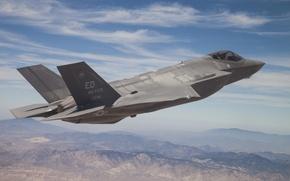Picture flight, fighter, pilot, bomber, Lightning II, Lockheed Martin, F-35A