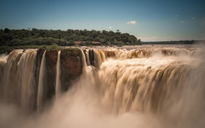 Picture nature, river, waterfall, dynamics