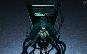 Picture girl, anime, art, chain, Hatsune Miku, Vocaloid, Vocaloid