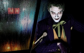 Picture look, background, microphone, Joker