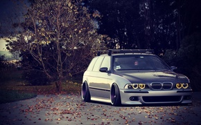 Picture BMW, Tuning, BMW, Lights, Drives, Tuning, E39, Stance